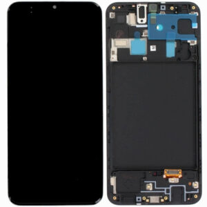 BLACK LCD SCREEN WITH FRAME for SAMSUNG GALAXY A50